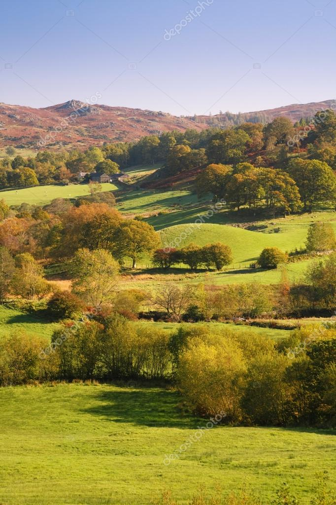 Countryside in Lake District, England