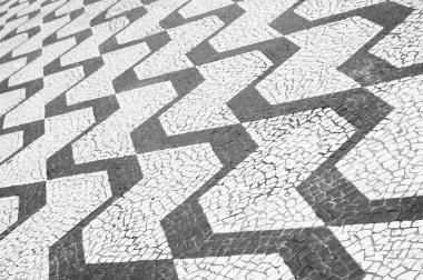 Sao Paulo Brazil Classic Sidewalk Pattern