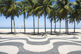 Fotografie Copacabana beach boardwalk rio de janeiro Brazílie