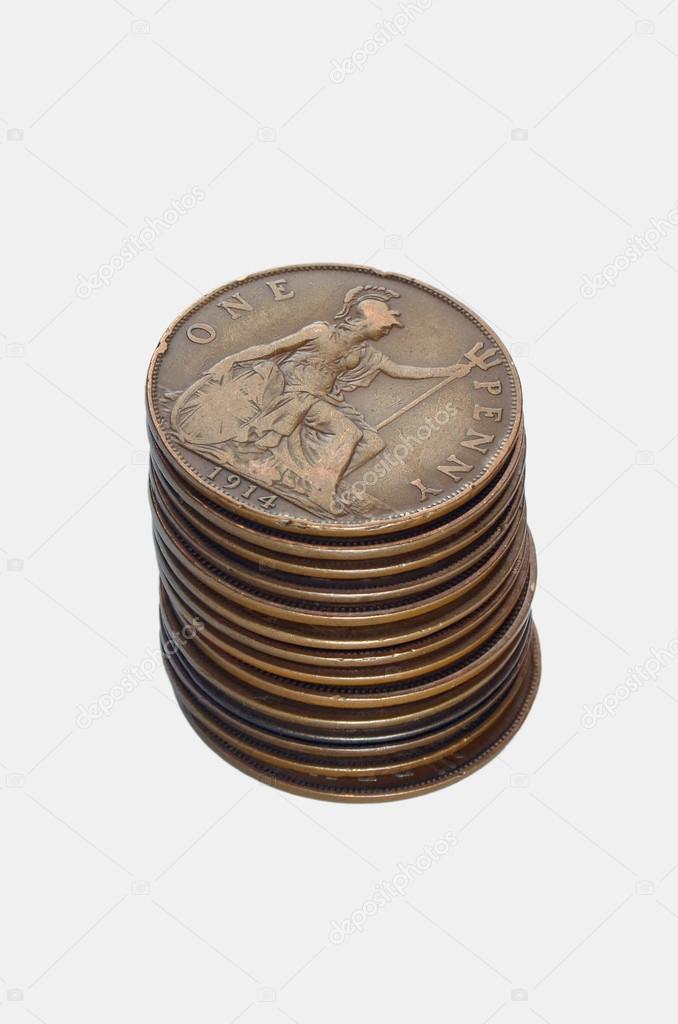 Alte Englische Münzen Stockfoto Sementer 31039885