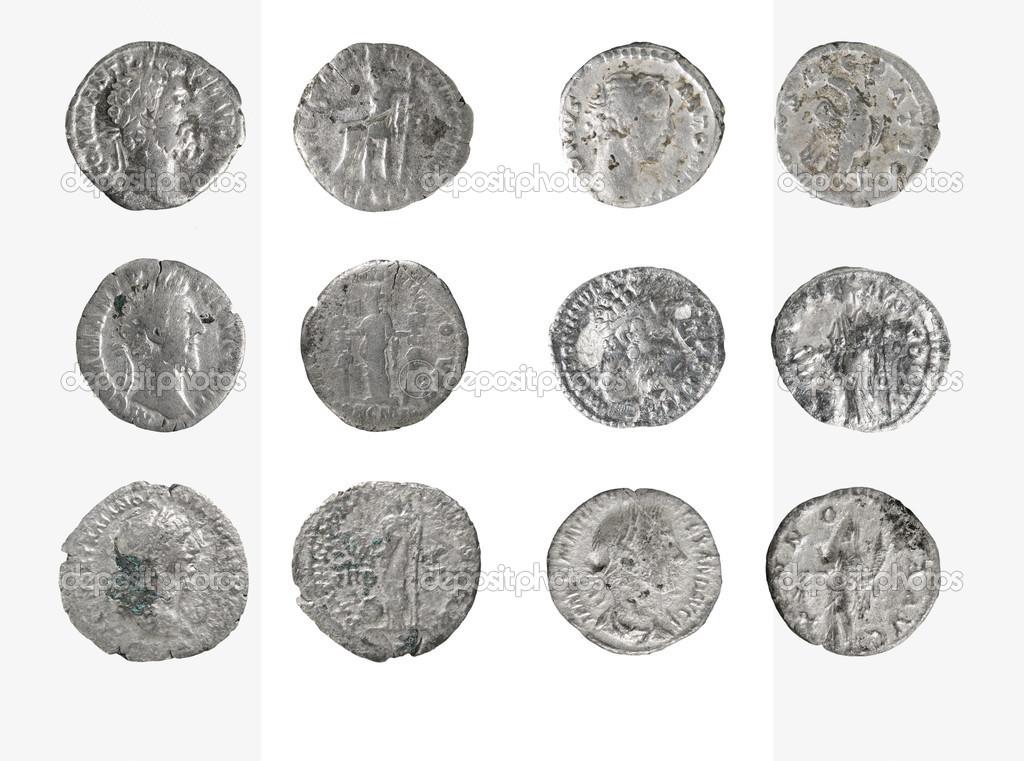 la valeur de pi ce de monnaie ancienne argent romaine denier photographie sementer 48157279. Black Bedroom Furniture Sets. Home Design Ideas