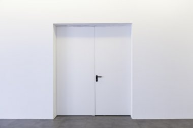 White closed door