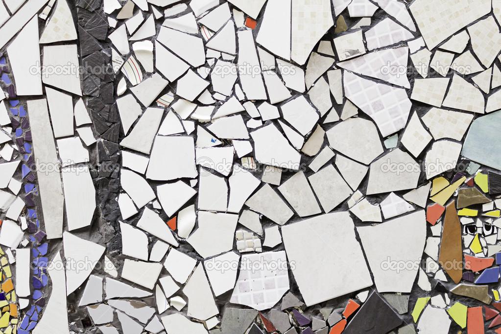 Mosaico di piastrelle rotte u foto stock celiafoto