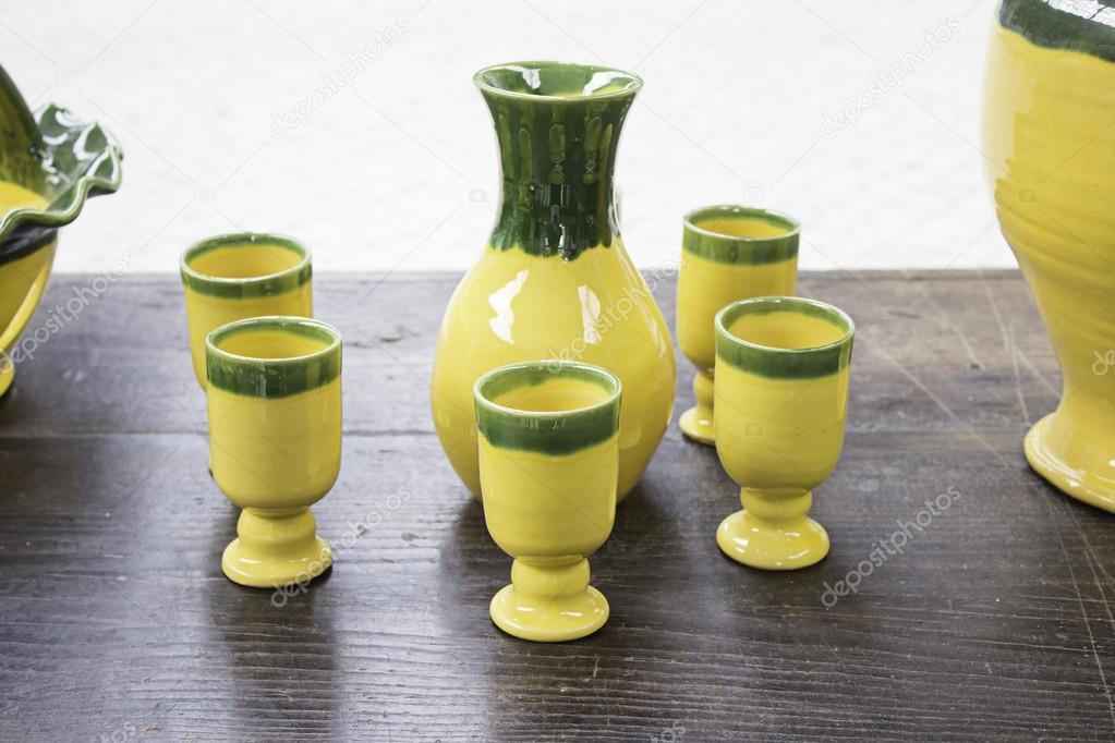 Yellow Ceramic Vases Stock Photo Celiafoto 49941703