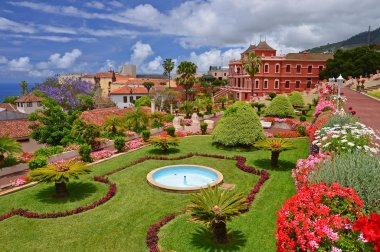 Beautiful botanical garden in La Orotava, Tenerife