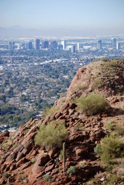 Phoenix Downtown: view from Camelback Mountain
