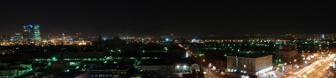 Night Moscow City skyline