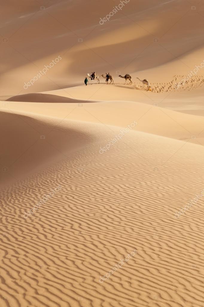 Caravan in the Sahara Desert, Libya
