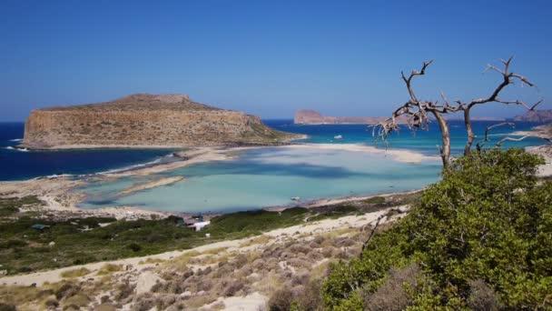 Pohled na lagunu Ballos(Balos) a ostrov Gramvúsa