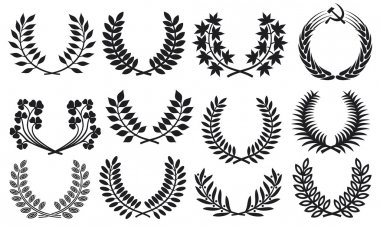 Wreath set (wreath collection, laurel wreath, oak wreath, wreath of wheat, and olive wreath)