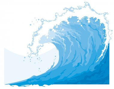 Sea (ocean) wave stock vector