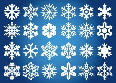 Snowflakes background stock vector