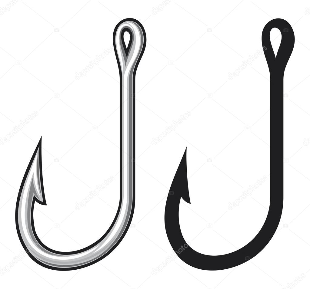 Fish hook vector images galleries for Fish and hooks