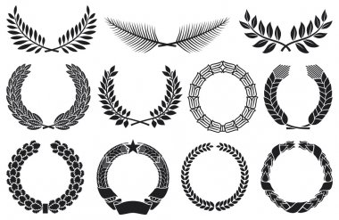 Wreath set (wreath collection, laurel wreath, oak wreath, wreath of wheat, palm wreath and olive wreath)
