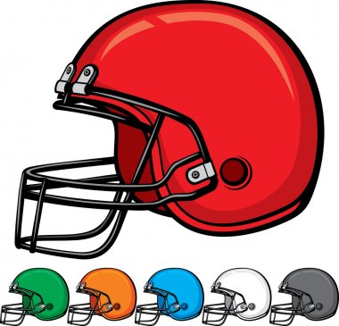 American football helmet collection (helmet football team, football helmets, american football helmet set) stock vector