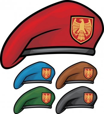 Military beret (beret collection) stock vector