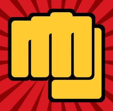 Fist (human hand punching)