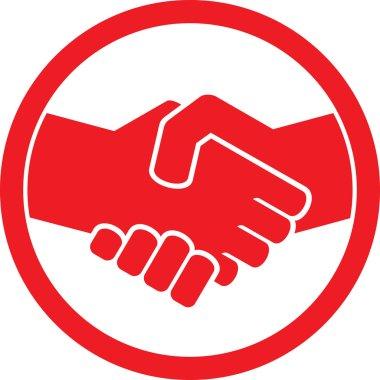 Handshake symbol (handshake emblem, handshake sign)