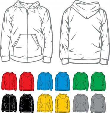 Men's hooded sweatshirt with pocket