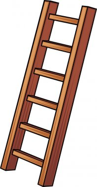 Illustration of a wooden ladder