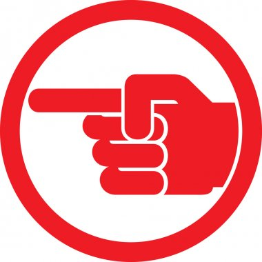 Finger pointing symbol