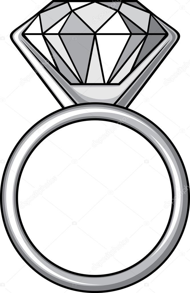 Diamond ring — Stock Vector © Tribaliumivanka #26762385