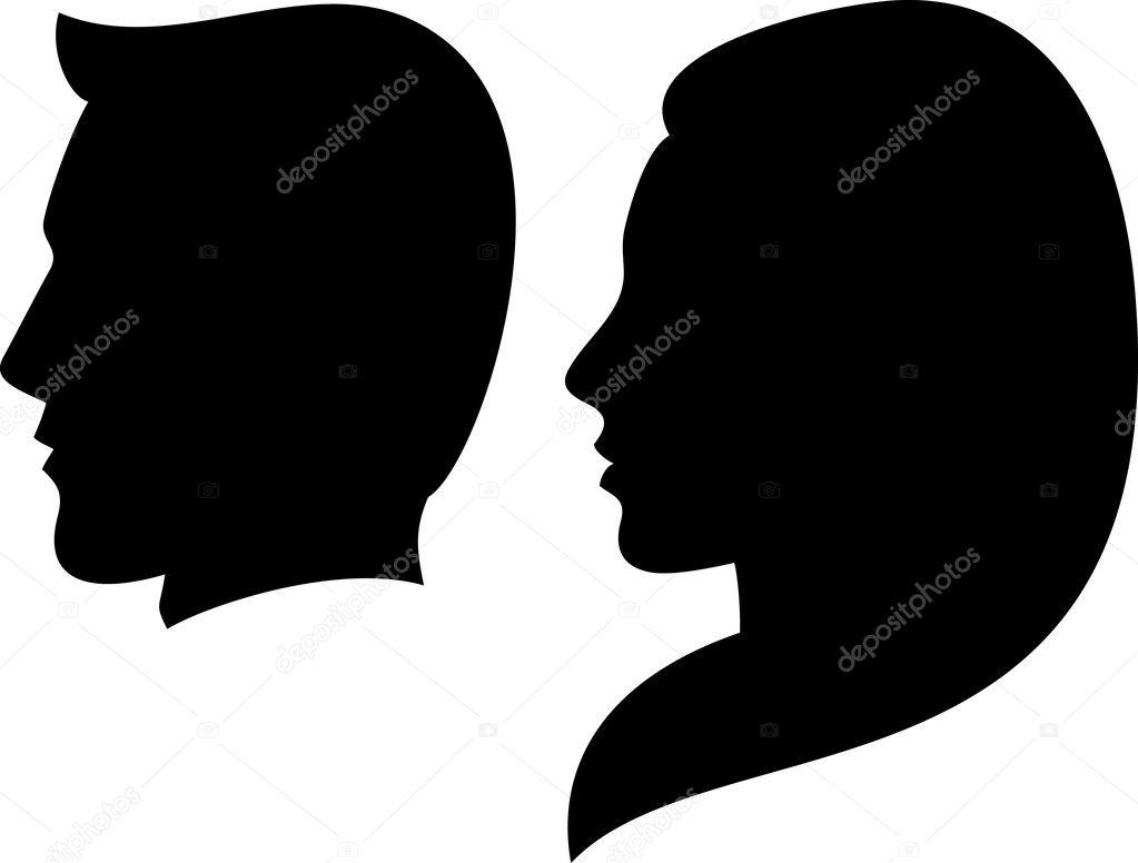 Silhouette Head Of A Man And Woman Face Man And Woman Silhouette Head Of A Man And Woman Face Man And Girl Stock Vector C Tribaliumivanka 26762955