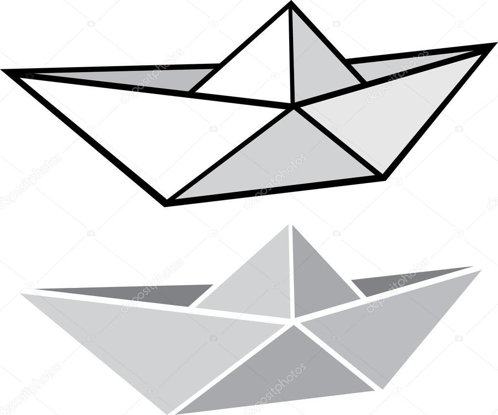 Origami Paper Boat Stock Vector