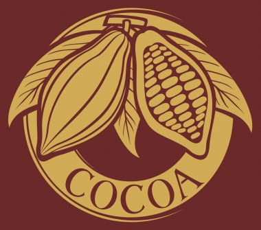 Cacao - cocoa beans label