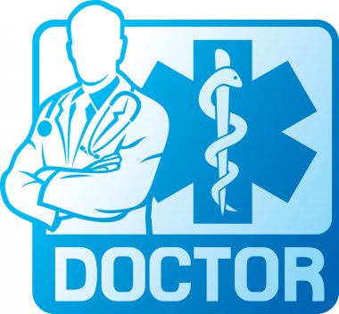 Medical doctor symbol clip art vector