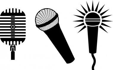 Vector Classic Microphones Symbols