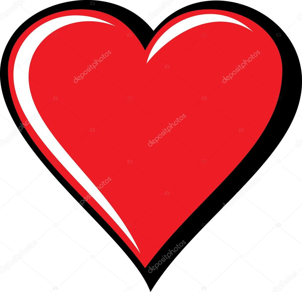 Big red heart isolated on white background vector illustration big red heart isolated on white background vector illustration stock vector buycottarizona Image collections