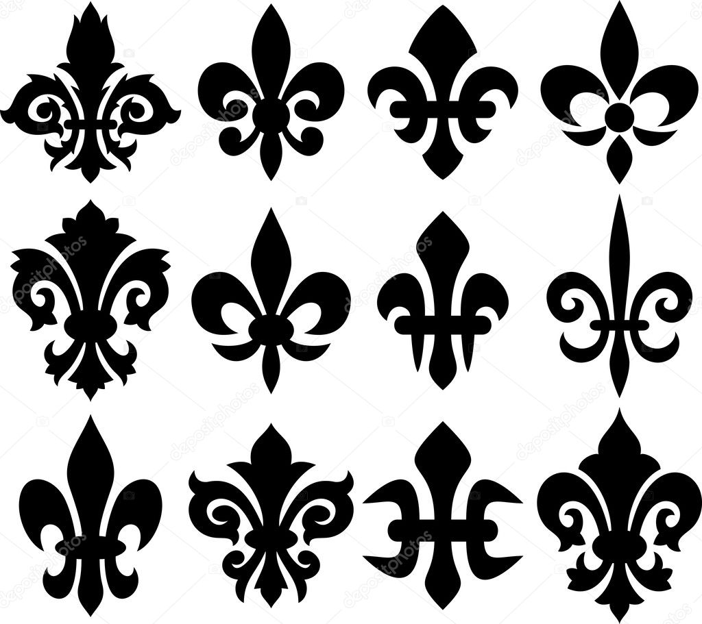 Lily flower heraldiska symbol fleur de lis stock vektor lily flower heraldic symbol fleur de lis royal french lily symbols for design and decorate lily flowers collection lily flowers set vektor av izmirmasajfo