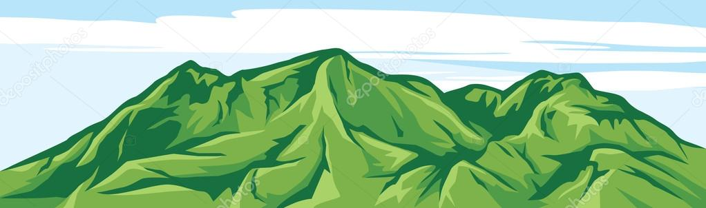Illustration of mountain landscape