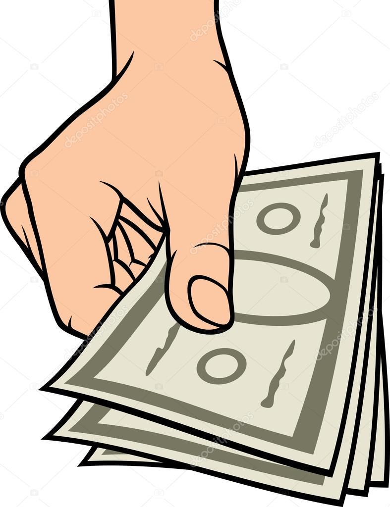 Hand giving money u2014 Stock Vector u00a9 Tribaliumivanka #26877475