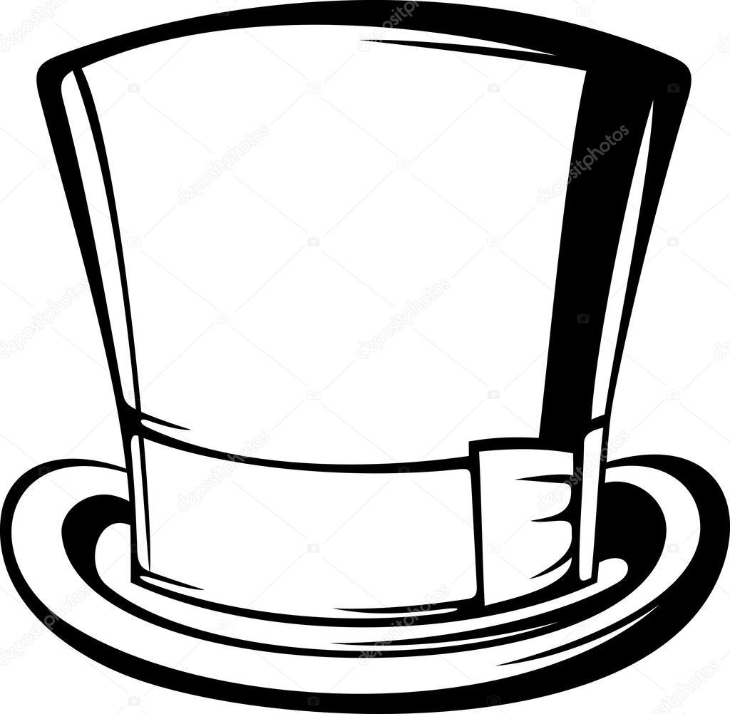 Cappello a cilindro — Vettoriali Stock © Tribaliumivanka  26877765 c561f24ab962