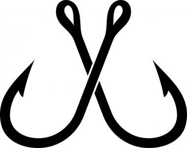 Two crossed fishing hook