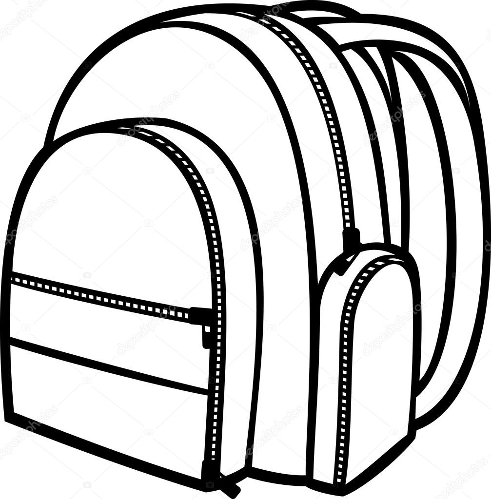 Coloring book bag - Bag Pack Backpack School Bag Vector By Tribaliumivanka