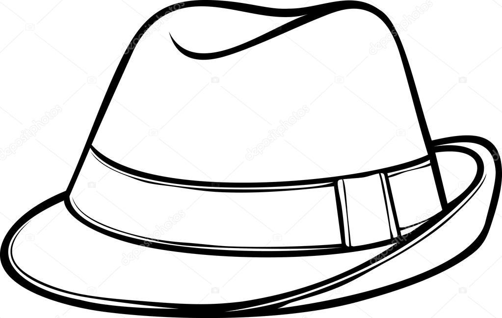 Kleurplaat Hoed Fedora Hat Men S Classic Fedora Stock Vector