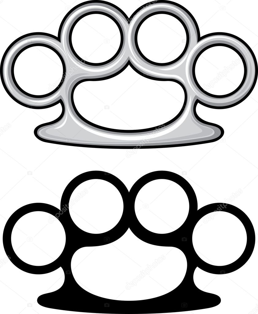 brass knuckles stock vectors royalty free brass knuckles rh depositphotos com Grenade Tattoo Designs Brass Knuckles Stencil