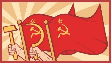 Soviet flag poster
