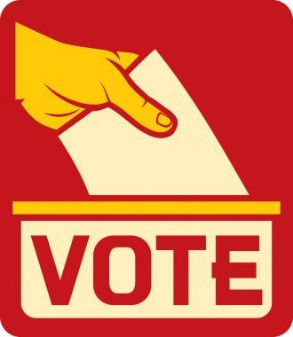 Vote label