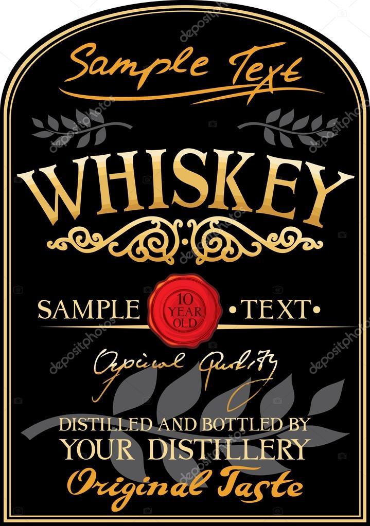 whiskey label stock vector tribaliumivanka 27034991