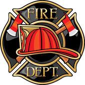 Feuerwehr oder Feuerwehr-Malteserkreuz-symbol