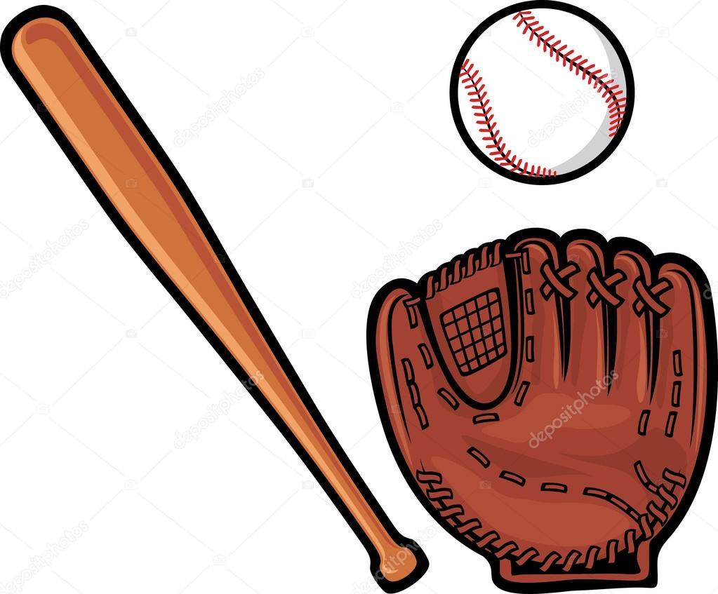 baseball glove ball and bat stock vector tribaliumivanka 27132233 rh depositphotos com Baseball Bat Vector Logo Baseball Bat Vector Logo