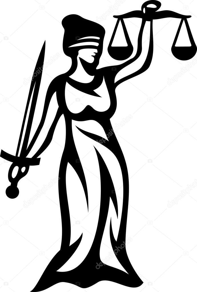 justice statue  lady justice  u2014 stock vector  u00a9 tribaliumivanka  27132447