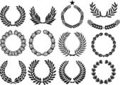 Wreath set (wreath collection, laurel wreath, oak wreath, wreath of wheat, and olive wreath)