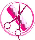 Fotografie Hair Salon design (haircut or hair salon symbol)