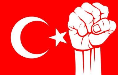 Turkey fist (flag of turkey)