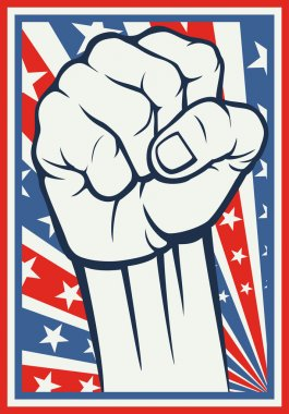 Fist - poster (Inspired by the American flag)